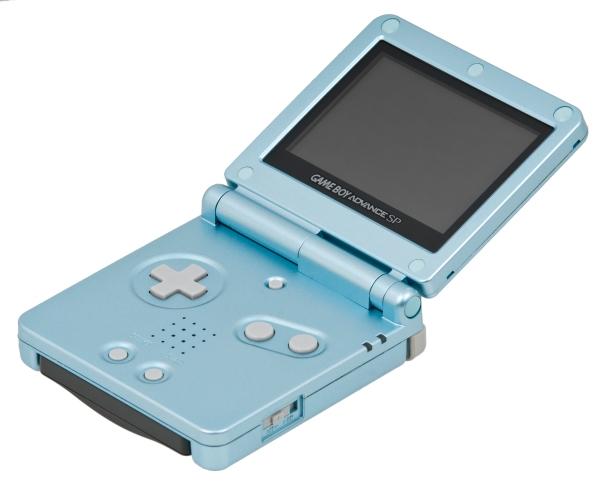 Game Boy Advance SP: like a Game Boy Advance, but foldy.