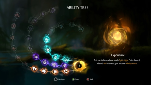 Even the ability tree is pretty.