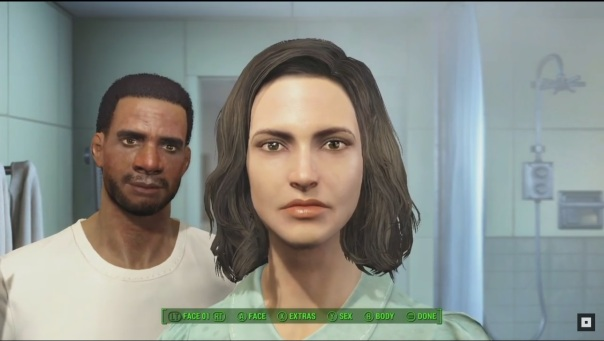 The new character creation mode.