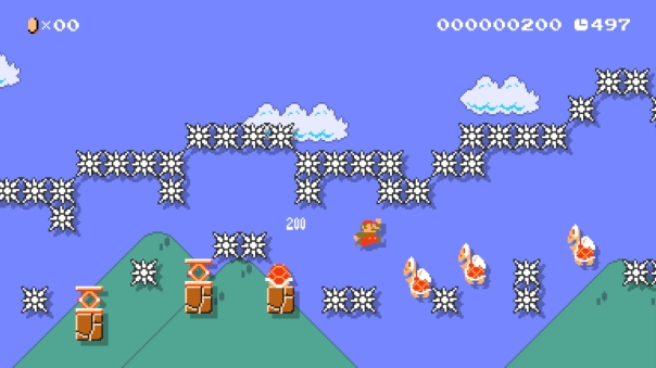 "Super Mario Maker course ""Keep running!"" (ID: 4B37-0000-0010-6C26)"